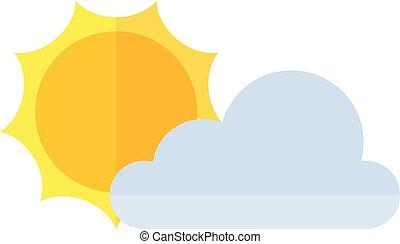 appartamento, icona, -, previsione, parzialmente, soleggiato