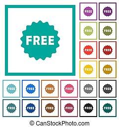 appartamento, icone, colorare, adesivo, libero, quadrante,...