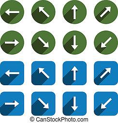 appartamento, icons., freccia