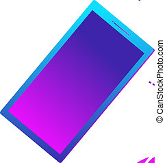 appartamento, illustration., affari, scarabocchiare, concept., cartone animato, vettore, promuovere, sagoma, completo, uomo, megafono, disegno, icona