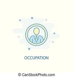 appartamento, illustration., semplice, concept., disegno, icona, linea, occupazione, simbolo, colorato