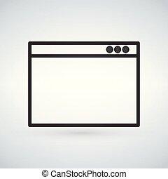 appartamento, illustration., semplice, moderno, fondo., finestra, vettore, browser
