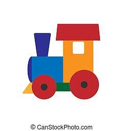 appartamento, immagine colore, bambino, paravozik, disegno