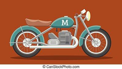 appartamento, immagine, motocicletta