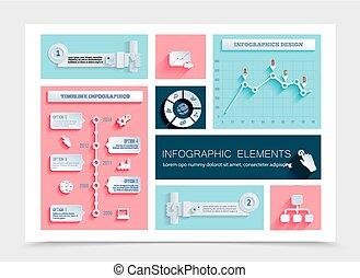appartamento, infographic, affari, sagoma