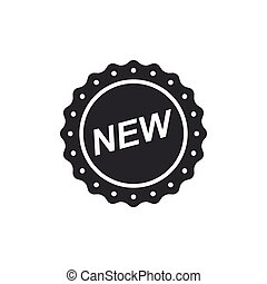 appartamento, isolated., illustrazione, segno, vettore, nuovo, etichetta, design.