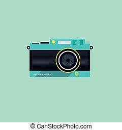 appartamento, macchina fotografica, icona