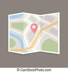 appartamento, mappa, icona