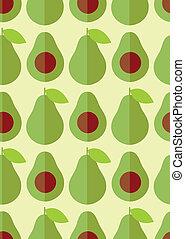 appartamento, mezzo, seme, avocado, carino