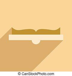 appartamento, mobile, domanda, libro, uggia, aperto, icona