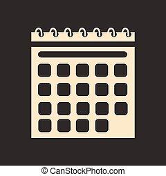 appartamento, mobile, domanda, nero, bianco, calendario