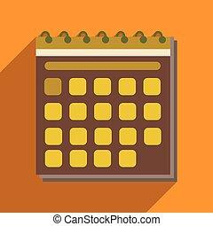 appartamento, mobile, domanda, uggia, calendario, icona