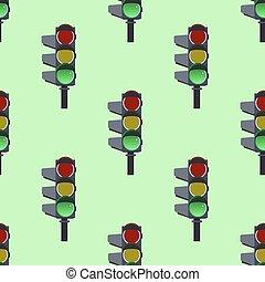 appartamento, modello, verde, seamless, luci, vettore, disegno, fondo, traffico