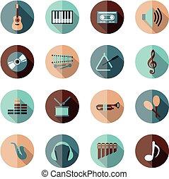appartamento, musica, icone