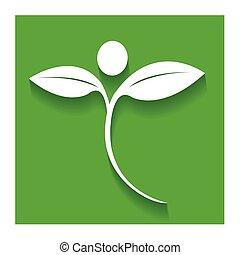 appartamento, natura, sano, persone, logotipo, icona