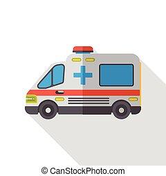 appartamento, ospedale, ambulanza, icona