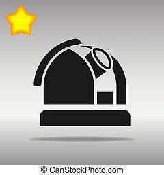 appartamento, osservatorio, grigio, isolare, fondo, icona