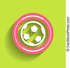 appartamento, palla, moderno, vettore, calcio, icona