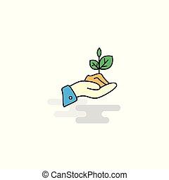 appartamento, pianta, vettore, icon.