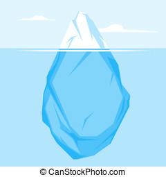 appartamento, pieno, iceberg