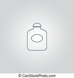 appartamento, retro, bottiglia, profumo