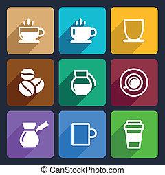 appartamento, serie caffè, 43, icone