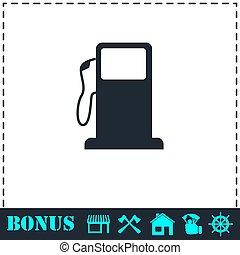 appartamento, stazione, gas, icona