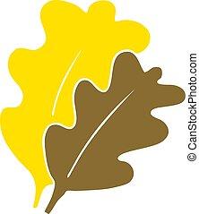appartamento, stile, colorare, foglie, cadere, cartone animato