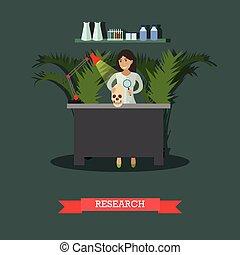 appartamento, stile, concetto, illustrazione, ricerca, ...