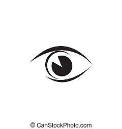 appartamento, stile, occhio, moderno, disegno, icona, minimo