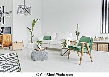 appartamento, stile, scandinavo