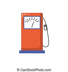 appartamento, stile, stazione servizio benzina, icona