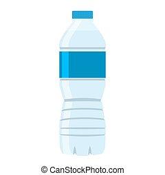 appartamento, stile, vector., bottiglia acqua, icon.