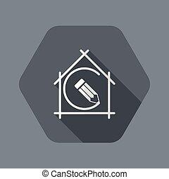 appartamento, vettore, casa, -, pianificazione progetto,...