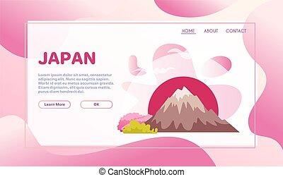 appartamento, vettore, illustrazione, giapponese, simboli