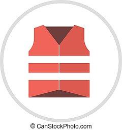 appartamento, vita, illustration., canottiera, giacca, icona