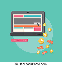 appartamento, web, marketing, a, disegno, pagare, scatto