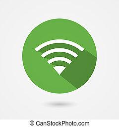 appartamento, wifi, fior, libero, collegamento, icona