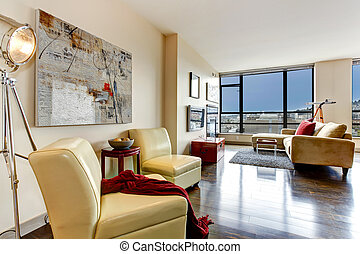 appartement, interior., moderne
