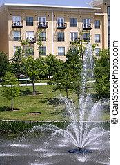 appartement, luxe, (condo)