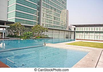 appartement, propriété, luxe, condominium