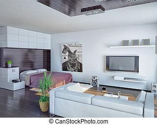 appartement, studio