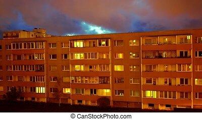 appartement, sunrise., maison
