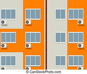 appartements, bloc
