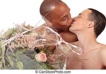 appartenance ethnique mélangée, couples gais