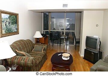 Living Room, small appartment, in Mississauga, Ontario
