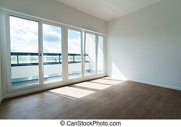 Appartment Room Wall And Window Modern Interior Design