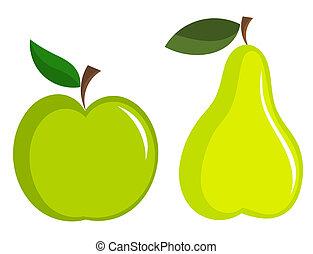 appe, och, päron