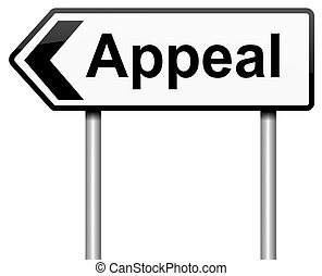 Appeal concept. - Illustration depicting a roadsign with an...