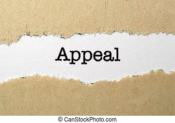 Appeal concept